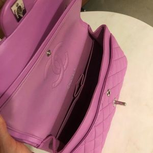 CHANEL Bags - Authentic CHANEL Lavender Pink Classic Double Flap